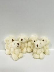 Parti Dünyası - Beyaz Mini Peluş Ayıcıklar 6 Adet 4 cm