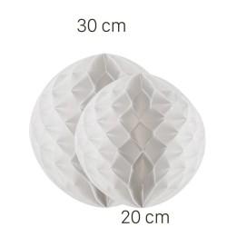 Parti Dünyası - Beyaz Renk Petek Süs Seti 2 Adet 30-20 cm