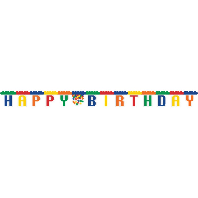 Block Partisi Happy Birthday Harf Afiş