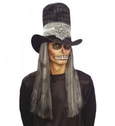 Parti Dünyası - Bordo-Siyah Kurukafa Şapka