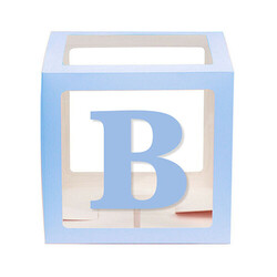 Parti - BOY Yazısı Mavi Harfler