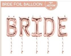 Parti - Bride Harf Folyo Balon