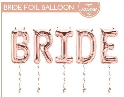 Bride Harf Folyo Balon
