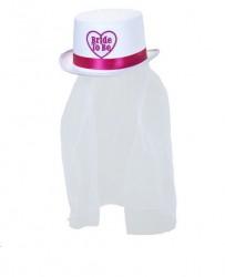 Parti Dünyası - Bride to be Fötr Beyaz Şapka