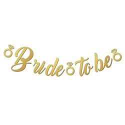 Parti Dünyası - Bride To Be Gold Kaligrafik Yazı Afiş