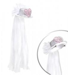 Parti Dünyası - Bride to Be Kalpli Şapkalı Şık Duvak