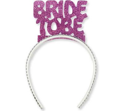Bride To Be Simli Fuşya Taç