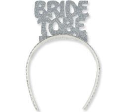 Parti - Bride to be Simli Gümüş Taç