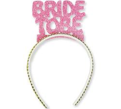 Parti Dünyası - Bride To Be Simli Pembe Taç