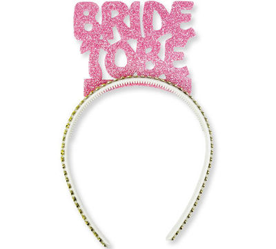 Bride To Be Simli Pembe Taç