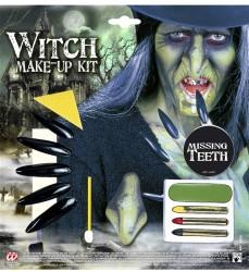Parti Dünyası - Cadı Makyaj Seti ve Aksesuarları