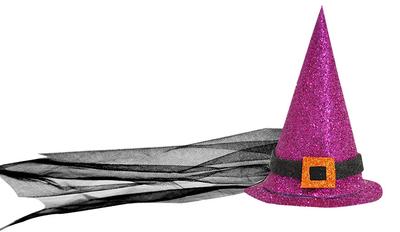 Cadı Şapkası Mor Renk Büyük Boy Eva 17 cm