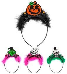 Parti Dünyası - Halloween Figürlü Otrişli Taç 1 Adet