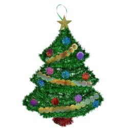 Parti Dünyası - Çam Ağacı Asılabilir Dekor Süs 45 cm