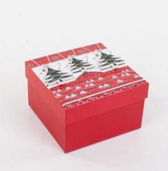 Parti Dünyası - Çam Ağacı Kabartmalı Hediye Kutusu 12 x 12 cm