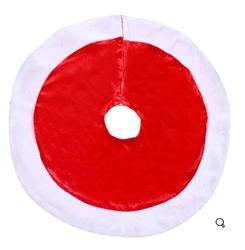 Parti - Çam Ağacı Alt Örtüsü Kırmızı Kadife Kumaştan 66 cm