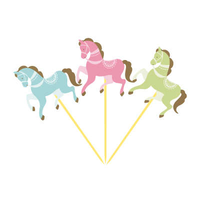 Carousel Partisi Atlı Karınca Şekilli 6 Lı Kürdan