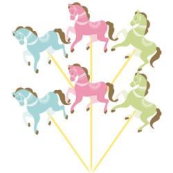 Parti Dünyası - Carousel Partisi Atlı Karınca Şekilli 6 Lı Kürdan
