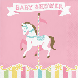 - Carousel Partisi Baby Shower Peçete 16 Adet