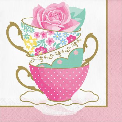 Çay Partisi Peçete 16 Adet