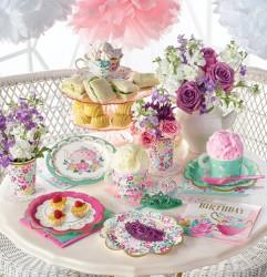 Parti - Çay Partisi ve Çiçekler 16 Kişilik Parti Seti