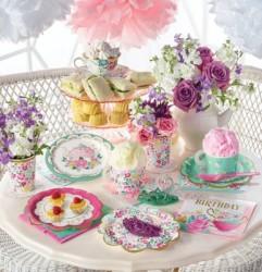 Parti Dünyası - Çay Partisi ve Çiçekler Süper Vip 24 Kişilik Set