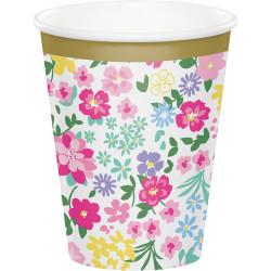 Parti Dünyası - Çiçekler Premium Bardak 8 Adet