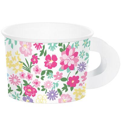 Çiçekler Premium Kulplu Fincan 6 Adet