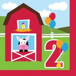 Parti Dünyası - Çiftlik Evi 2 Yaş 16 lı Peçete