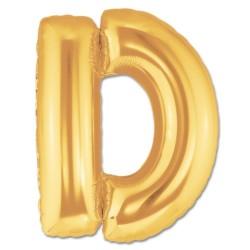 Parti Dünyası - D Harfi Altın Renk Folyo Balon 100 cm