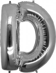 Parti Dünyası - D Harfi Gümüş Folyo Balon