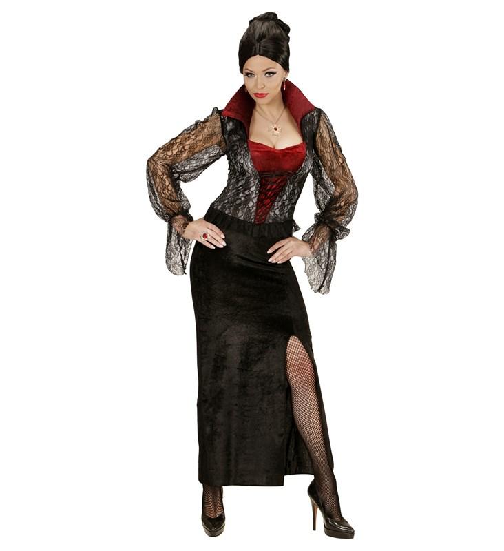 Dantelli Vampirella Yetişkin Kostüm