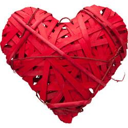 Parti Dünyası - Dekoratif Hasır Kalp 25 cm