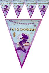 Parti Dünyası - Deniz Kızı İyi Ki Doğdun Bayrak Afiş