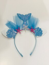 Parti Dünyası - Deniz Kızı Taç Mavi Renk
