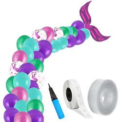 Parti Dünyası - Deniz Kızı Zincir Balon Yapım Seti Fuşya Renk
