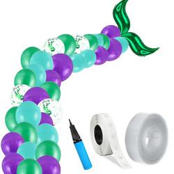 Parti Dünyası - Deniz Kızı Zincir Balon Yapım Seti Mor Renk