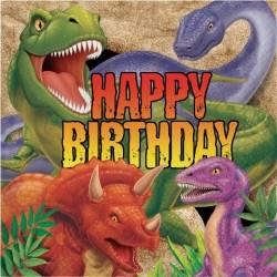 Parti Dünyası - Dinozor Land Happy Birthday 16 lı Peçete