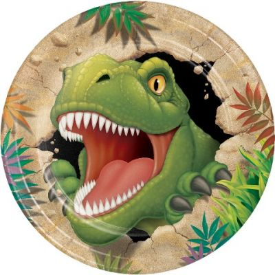 Dinozor Land Partisi 8 li Tabak