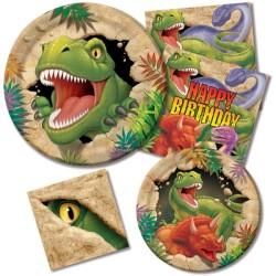 Parti Dünyası - Dinozor Land Standart Parti Paketi 16 Kişilik