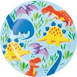 Parti Dünyası - Dinozor ve Arkadaşları Küçük Tabak 8 Adet