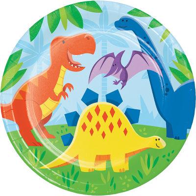 Dinozor Ve Arkadaslari Tabak 8 Adet Partidunyasi Com