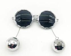 Parti Dünyası - Disco Topları Gümüş Renkli Parti Gözlüğü