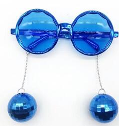 Parti Dünyası - Disco Topları Mavi Renkli Parti Gözlüğü