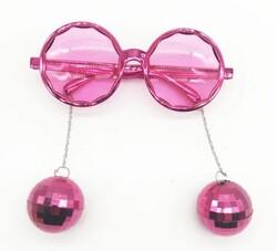 Parti Dünyası - Disco Topları Pembe Renkli Parti Gözlüğü