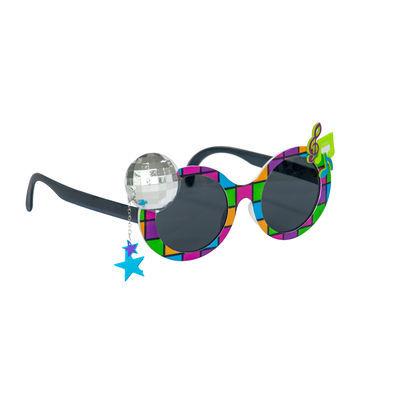 Disco Topu ve Notalar Eğlenceli Parti Gözlüğü