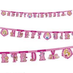 Parti Dünyası - Disney Prensesleri Happy Birthday Harf Afiş
