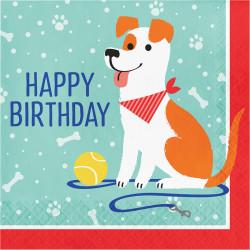 Parti Dünyası - Dost Patiler Happy Birthday Peçete 16 Adet