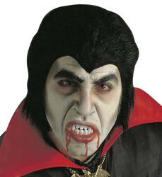 Parti Dünyası - Dracula Kostüm Seti (Peruk-Diş ve Kan İzleri)