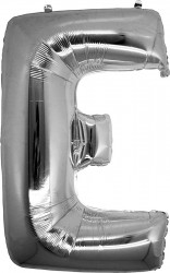 Parti Dünyası - E Harfi Gümüş Folyo Balon